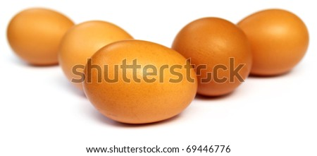 Eggs with selective focus