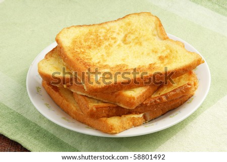 Eggy bread - stock photo
