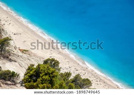 Egremni beach, a splendid pristine beach in Lefkada island, in Ionian Sea, Greece, Europe