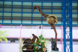Egret statue,The Egret from the coconut shell.