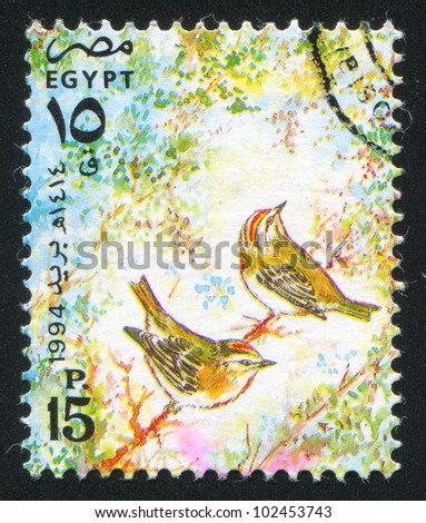EGYPT - CIRCA 1994: stamp printed by Egypt, shows Egyptian swallow, circa 1994.