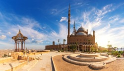 Egypt Citadel in Cairo, The Great Mosque of Muhammad Ali Pasha or Alabaster Mosque