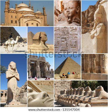 Egypt Collage - touristic highlights