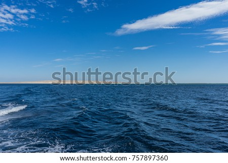 Egypt. Hurghada. Landscape from the sea #757897360