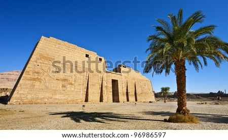 Egypt. Luxor. Medinet Habu - the First Pylon of the Mortuary Temple of Ramesses III