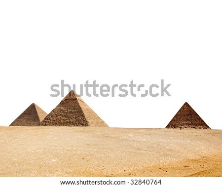 Egypt pyramid isolated on a white