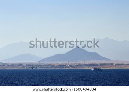 Egypt Sharm el Sheikh panoram from sea #1500494804