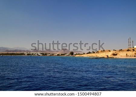 Egypt Sharm el Sheikh panoram from sea #1500494807