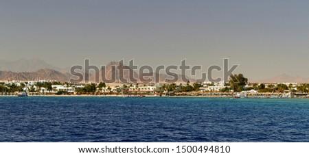 Egypt Sharm el Sheikh panoram from sea