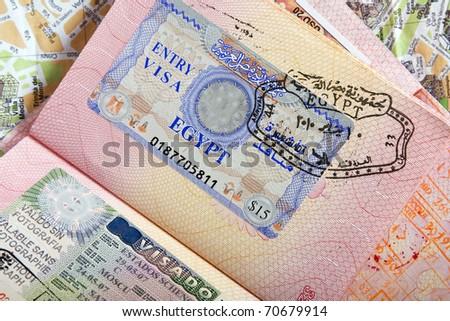 Egypt Visa Foto stock ©