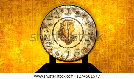 Egyptian asbstract background,  abstract golden background