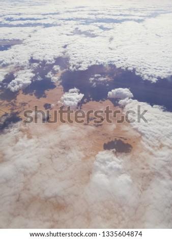 Egyptian desert from the sky #1335604874