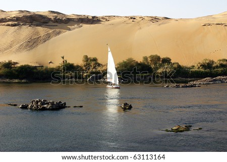 Egyptian Felucca on the Nile River
