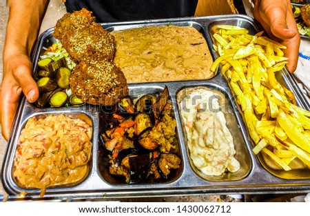 Egyptian food from a small shop in Alexandria City