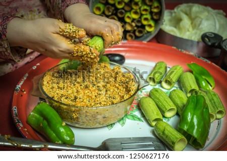 Egyptian food , Stuffed zucchini