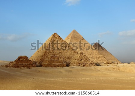 Egyptian Giza three pyramids