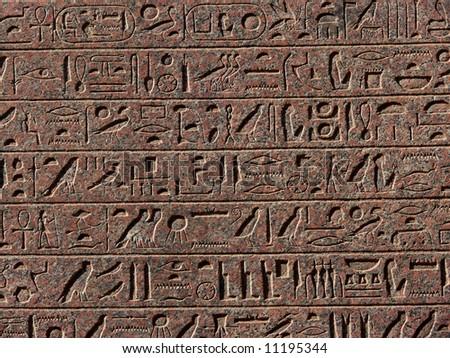 Egyptian hieroglyphs background