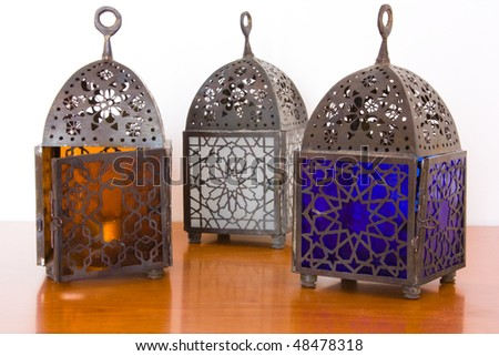 Egyptian lamps - metal and colored glass, from Cairo