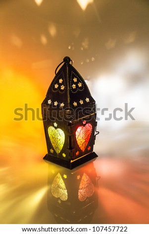 "Egyptian lantern or as we call it in Egypt ""Fanoos"", children play with it in Ramadan."