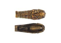 Egyptian mummy sarcophagus Isolated on white background