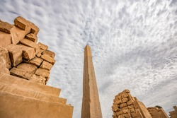 Egyptian Obelisk. Obelisk in the Karnak Temple Complex in Luxor.