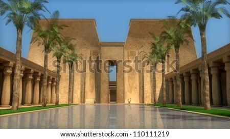 egyptian palace inside