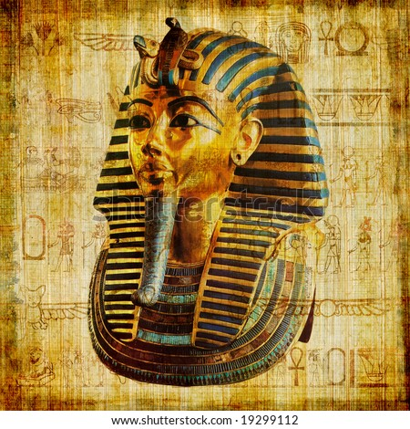 egyptian papyrus with pharaoh