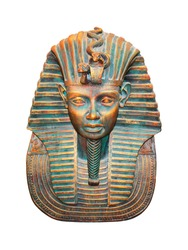 Egyptian pharaoh isolated with clipping path