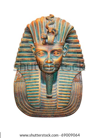 Egyptian pharaoh isolated with clipping path Stock photo ©