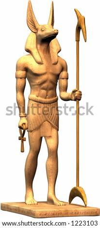 Egyptian Statue - stock photo