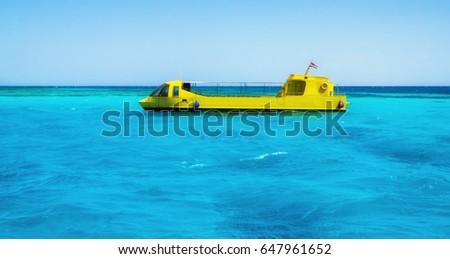 Egyptian submarine with a glass bottom organize sightseeing tourist tours #647961652