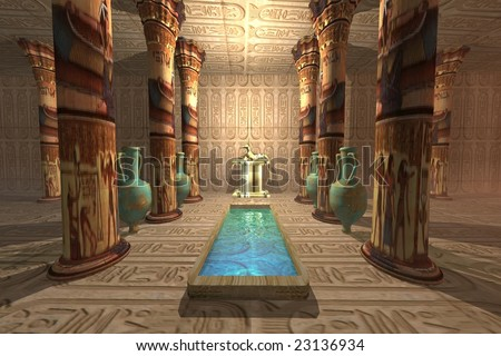 EGYPTIAN TEMPLE - Ancient temple to the Egyptian god Anubis.