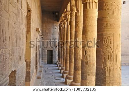 Egyptian Temple Collonade