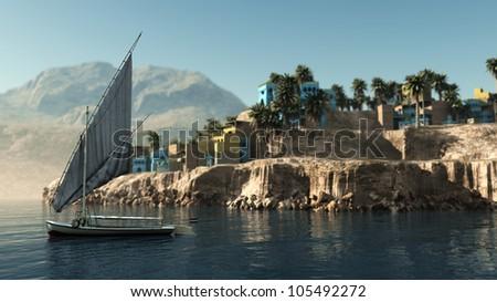 Egyptian Village Felucca