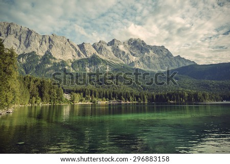 eibsee lake and zugspitze  at 2 ...