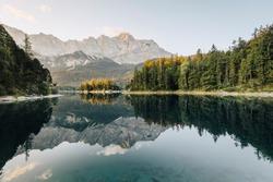 Eibsee lake near Grainau, Bayern, Germany