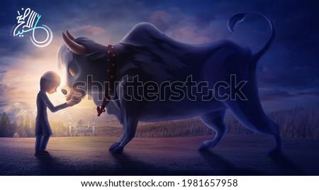 Eid-Al-Adha Mubarak- Islamic eid holiday background.Eid al Adha greeting card. Animal to sacrifice for muslim eid-ul-adha. 3d illustration