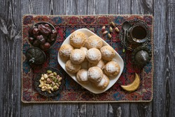 Eid and Ramadan Dates Sweets - Arabian cuisine. Egyptian cookies