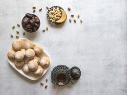 Eid and Ramadan Dates Sweets - Arabian cuisine. Egyptian cookies