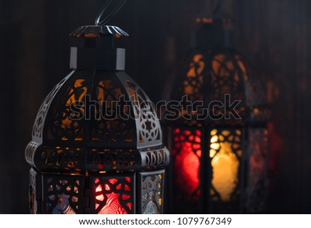 Eid or Ramadhan lantern in lowlight #1079767349