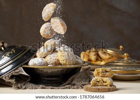 """eid  Sweets - Arabian cuisine.  """"Kahk El Eid"""".  cookies. Top"""