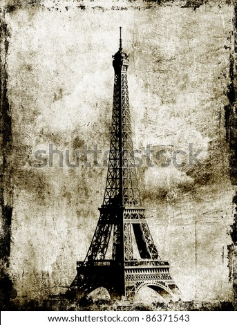 eifel tour - stock photo