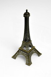 Eifel tower symbol of paris france iron miniature famous europe object sculpture monument historic