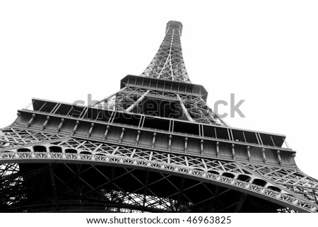 Eiffel Tour Paris (black and white photo)