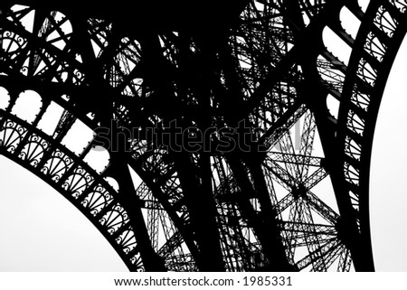 Eiffel tower, abstract shapes