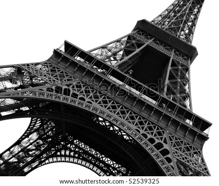 stock photo : Eiffel Tower Abstract view on white background
