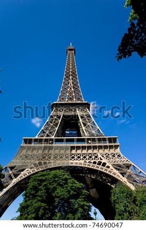 Eiffel tower against blue sky,Paris,France
