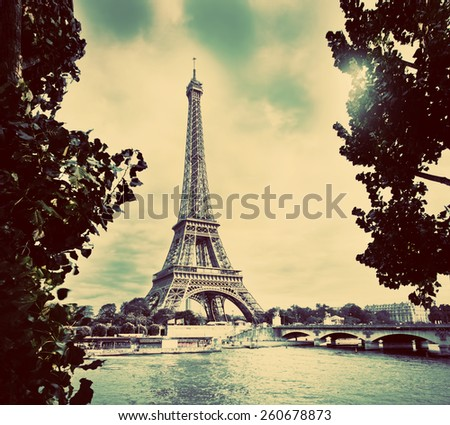 eiffel tower and seine river ...
