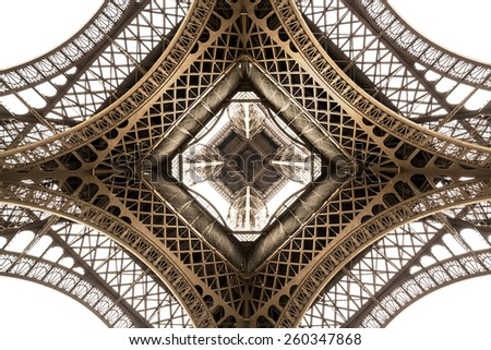 Eiffel Tower architecture detail, bottom view. unique angle #260347868