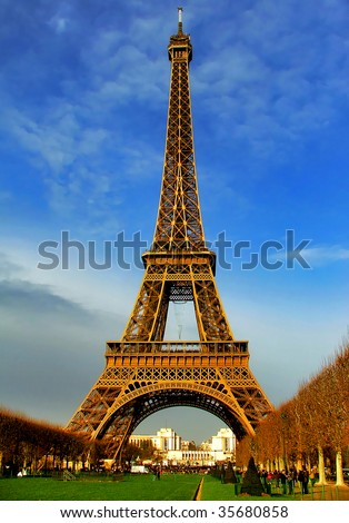 Eiffel Tower Sexual Position Pictures on Eiffel Tower At Daylight   Paris Stock Photo 35680858   Shutterstock